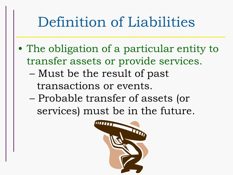Classification of Liabilities Current Liabilities- Paid within one year or the operating cycle, whichever is longer.