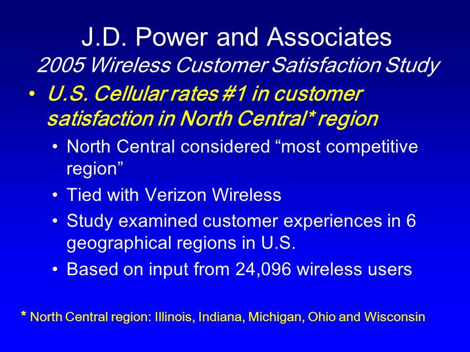 J.D. Power and Associates 2005 Wireless Customer Satisfaction Study U.S.