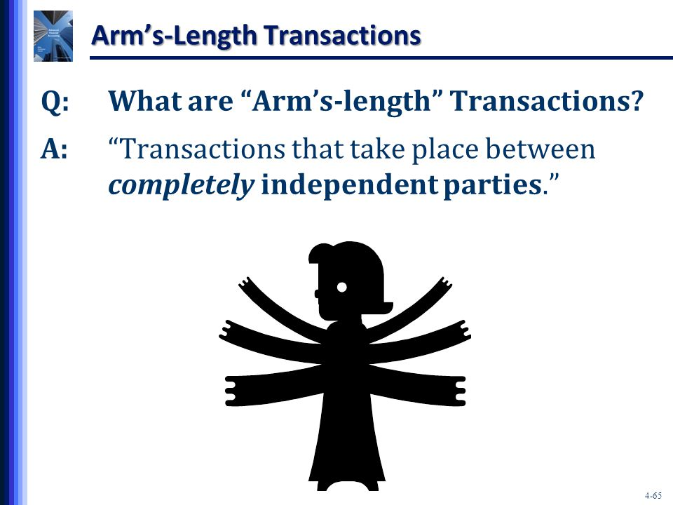 4-65 Arm's-Length Transactions Q:What are Arm's-length Transactions.