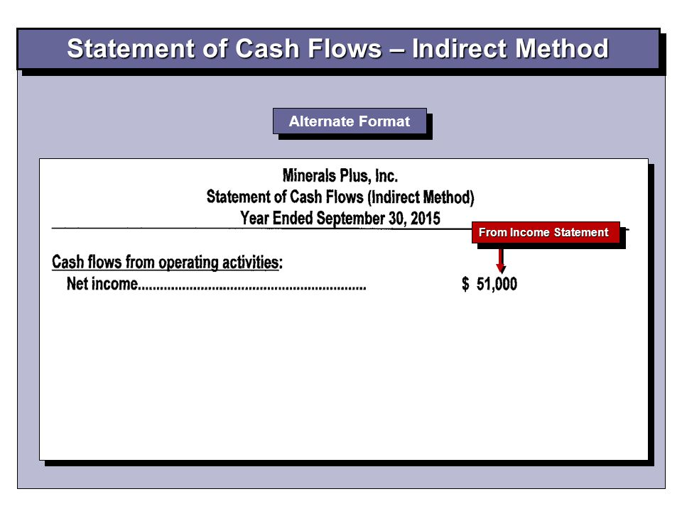 Alternate Format From Income Statement