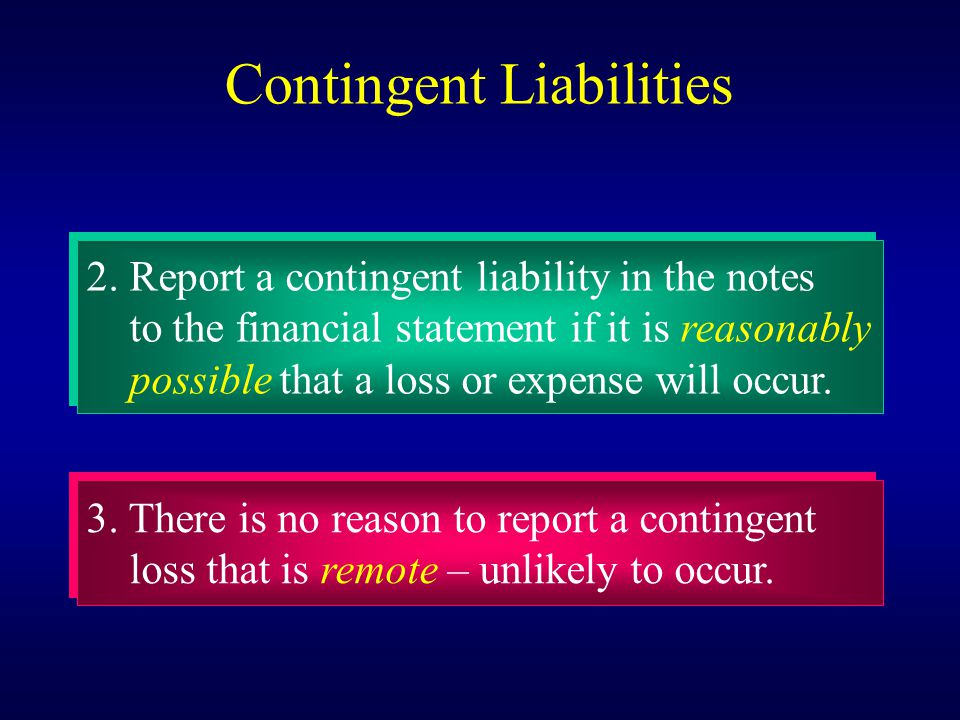Contingent Liabilities 2.