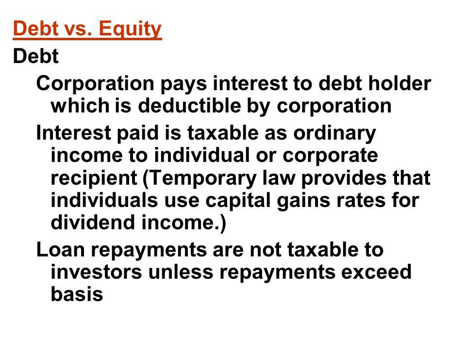 Debt vs.
