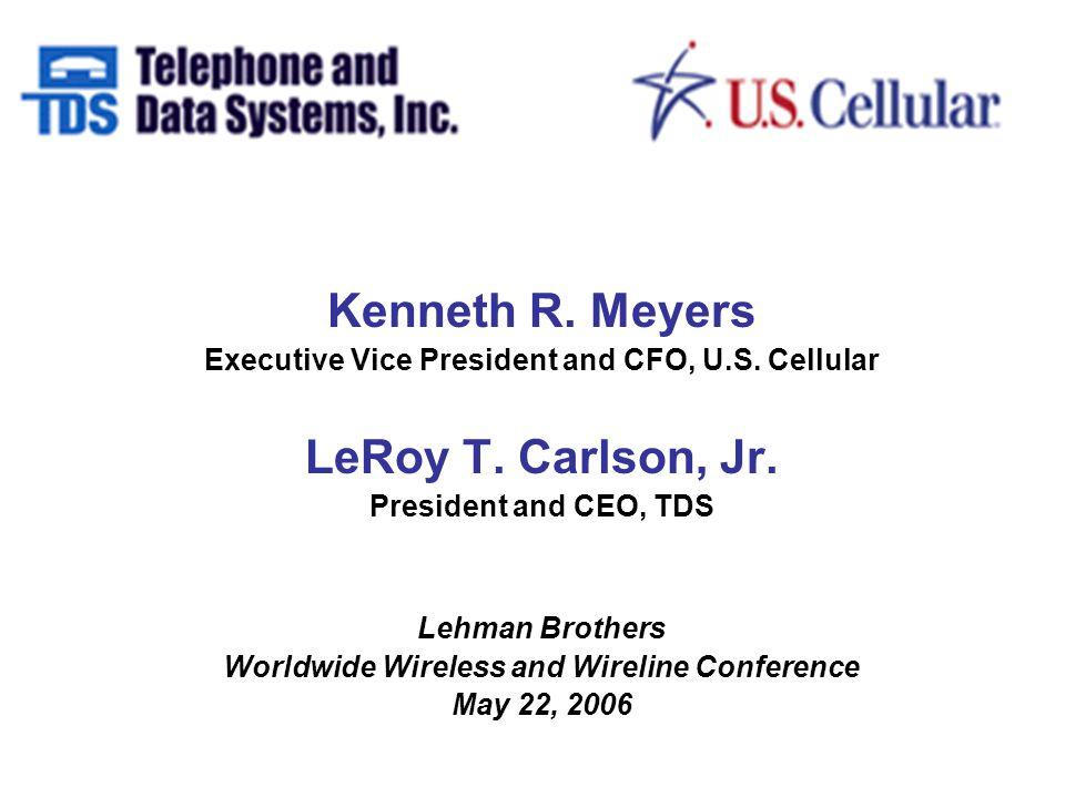 Kenneth R. Meyers Executive Vice President and CFO, U.S.