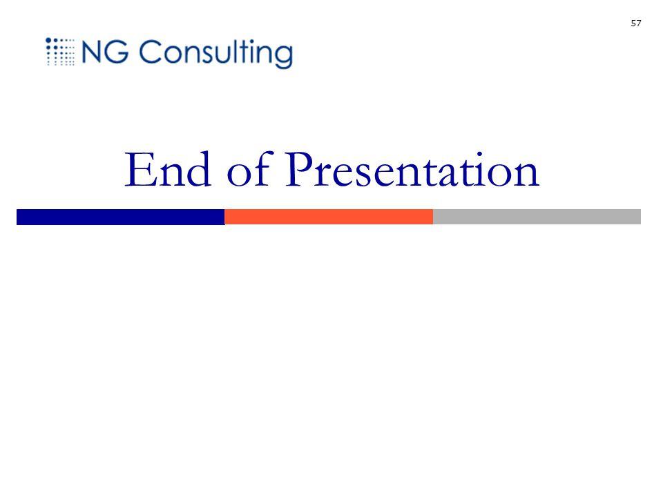 57 End of Presentation
