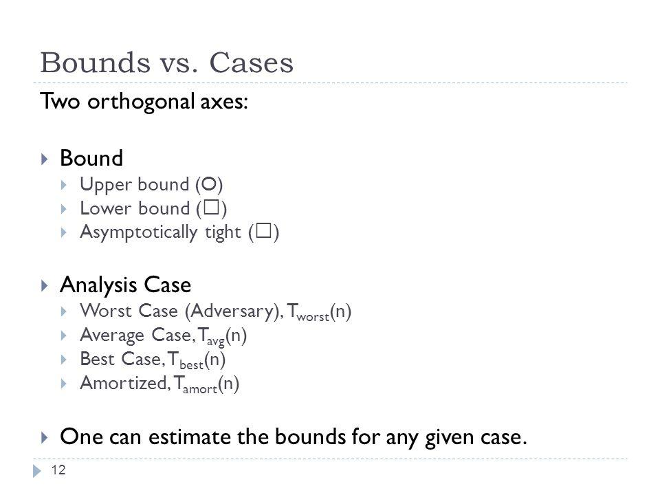 Bounds vs.