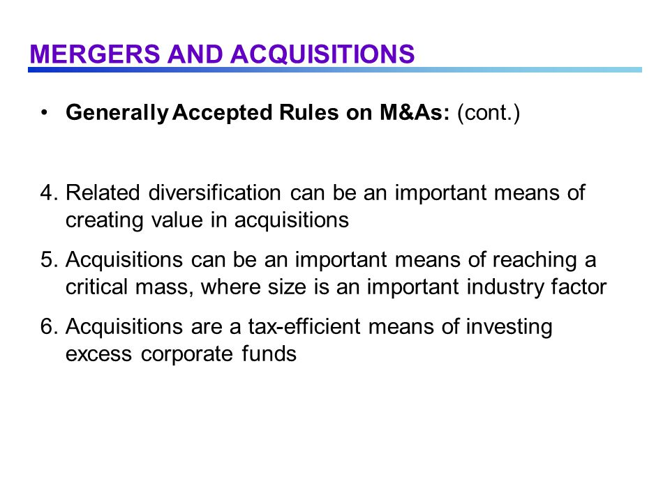 Financing an Acquisition: Obtaining Pooling Accounting Pooling of Interest Method of Accounting: - Income Statement treatment: All items, down to net income, are simply added together - Key Statistics for Merger Analysis: * Pro-forma EPS: Earnings are additive and the number of shares outstanding after the merger depends on the exchange ratio of the merger.