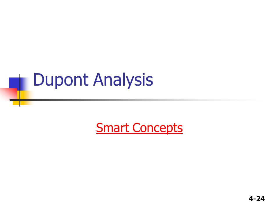 4-24 Dupont Analysis Smart Concepts