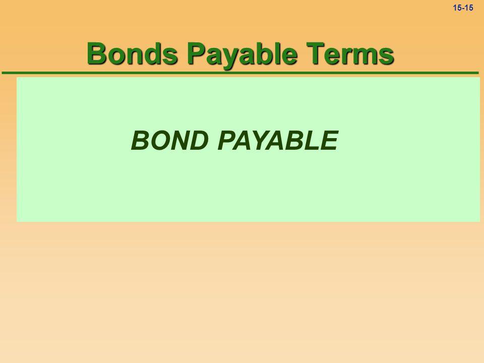 15-14 Characteristics of Bonds (PP. 544 - 545) l Secured or Unsecured Bonds l Registered or Unregistered Bonds l Coupon Bonds l Serial Bonds l Callabl