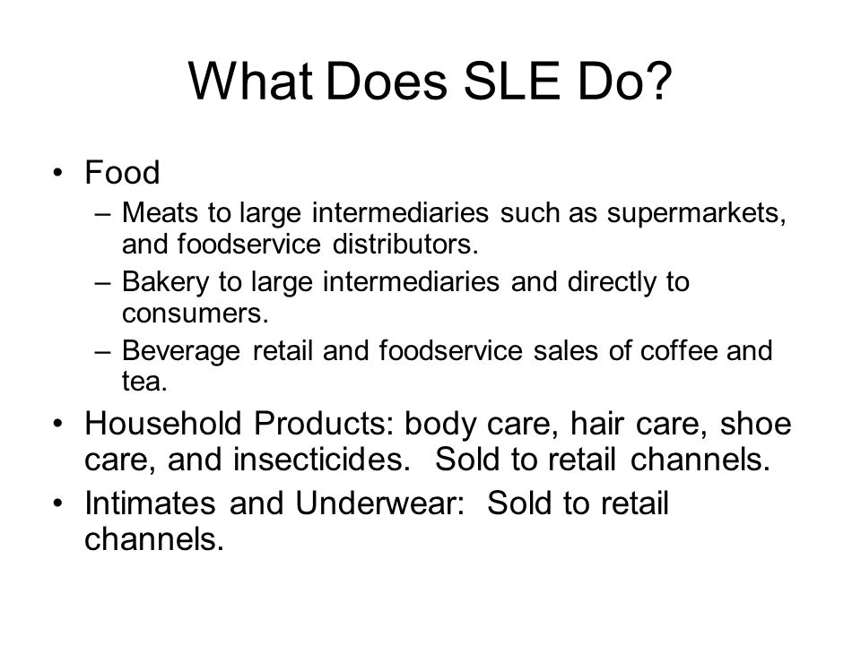 What Does SLE Do.
