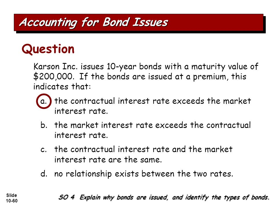 Slide 10-60 Karson Inc.issues 10-year bonds with a maturity value of $200,000.