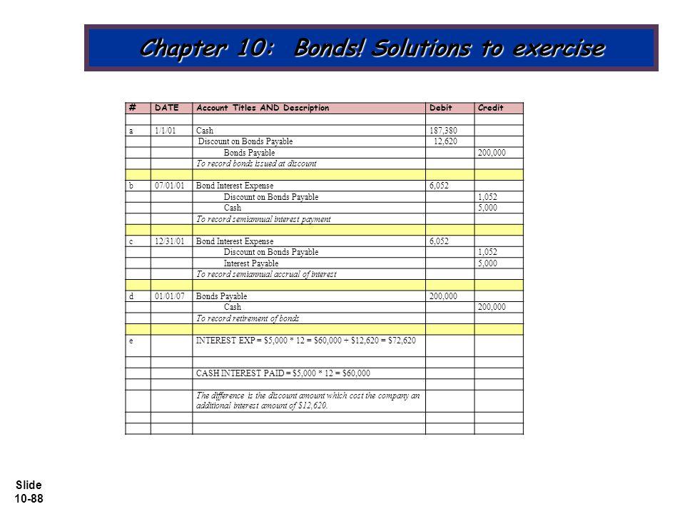 Slide 10-88 Chapter 10: Bonds.