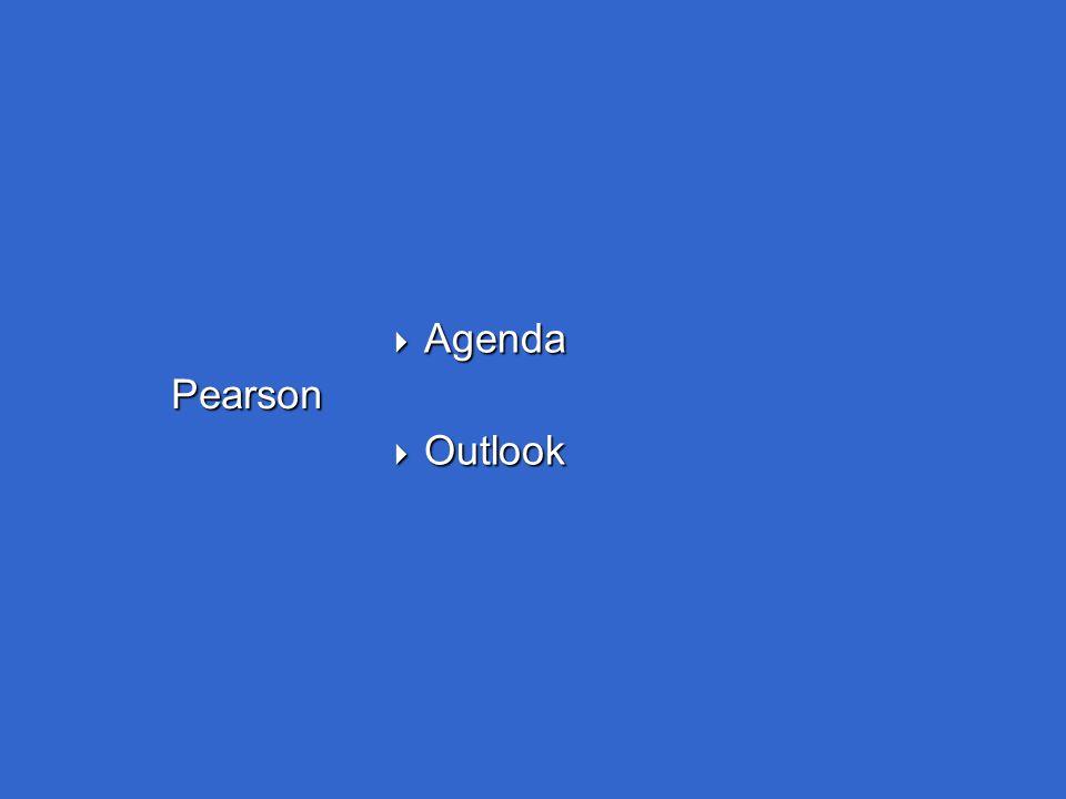Pearson  Agenda  Outlook