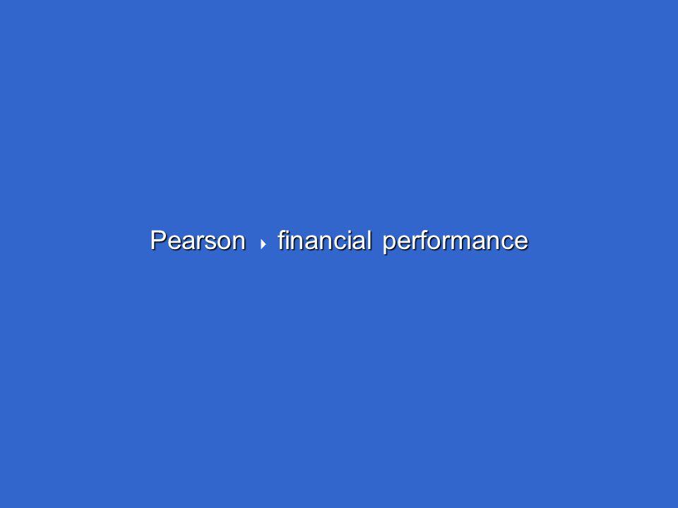 Pearson financial performance Pearson  financial performance