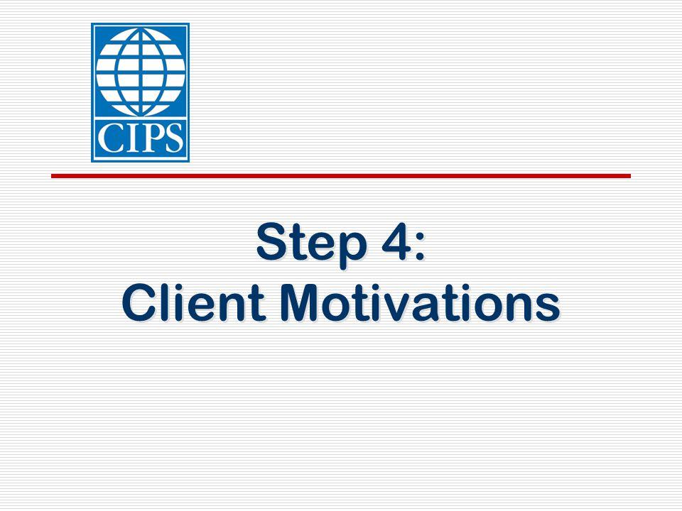 Step 4: Client Motivations