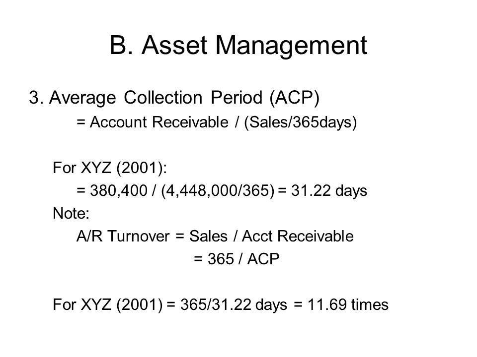 B.Asset Management 3.