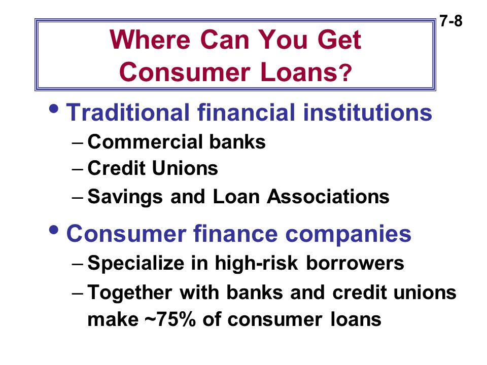 7-29 Using the Add-On Method:  Calculate finance charges on the original loan amount: $1000 x.12 x 1 = $120  Add these charges to principal: $120 + $1000 = $1,120  Divide this amount by the number of periods to arrive at payment: $1,120  12 = $93.33