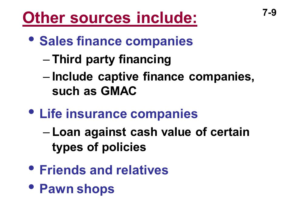 7-10 Managing Your Credit  Shop carefully before borrowing  Compare loan features –Finance charges and loan maturity –Total cost of transaction –Collateral requirements –Other features, such as payment date, prepayment penalties and late fees