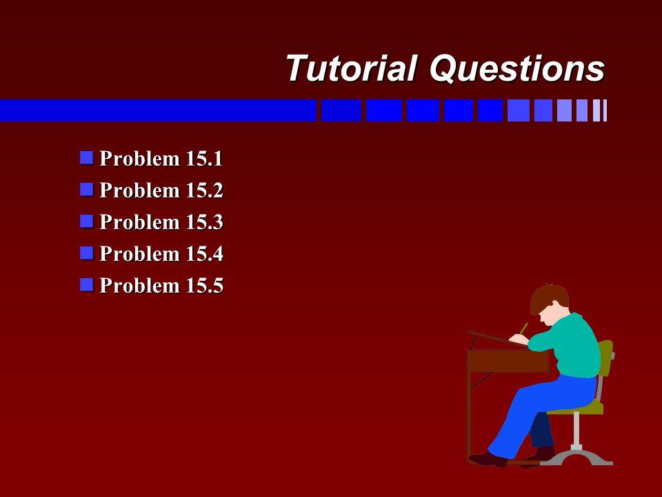 Tutorial Questions nProblem 15.1 nProblem 15.2 nProblem 15.3 nProblem 15.4 nProblem 15.5