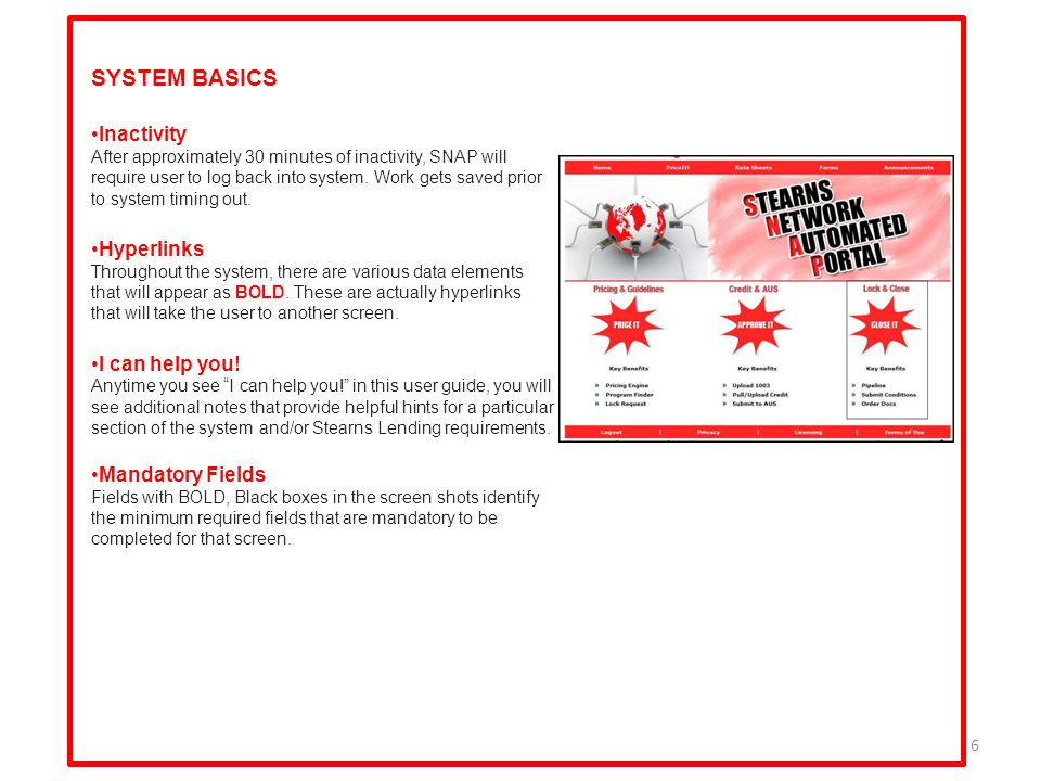 7 SECTION 2: HOME PAGE