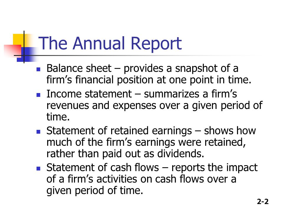 2-3 The Balance Sheet Cash Versus Other Assets Inventory & Depreciation Accounting Liabilities Breakdown of the common equity account Preferred versus common stock