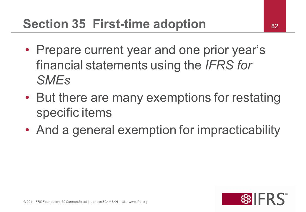 © 2011 IFRS Foundation. 30 Cannon Street | London EC4M 6XH | UK.