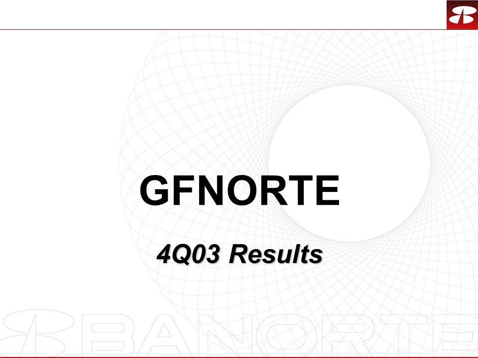 1 GFNORTE 4Q03 Results