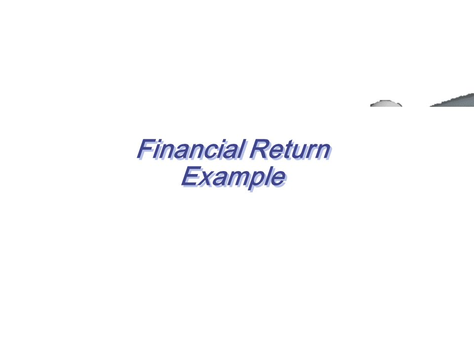 Financial Return Example Discounted Cash Flow Analysis