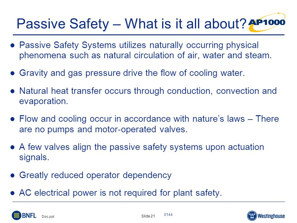 Slide 21 Doc.ppt 0144 Passive Safety – What is it all about.