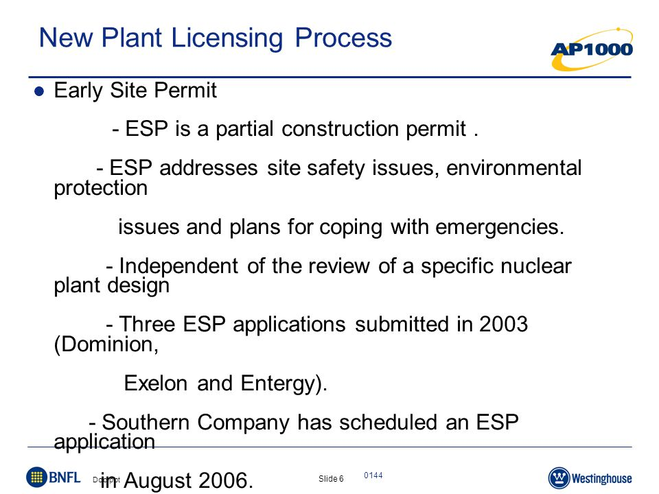 Slide 7 Doc.ppt 0144 New Plant Licensing Process Cont'd.