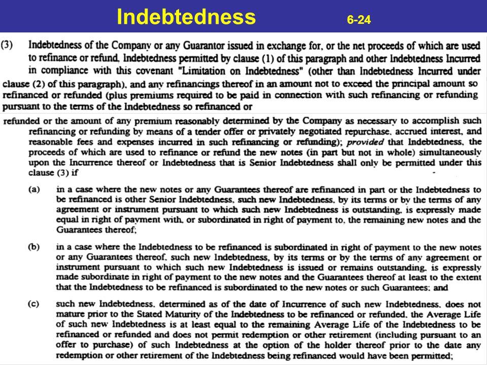 Indebtedness 6-24