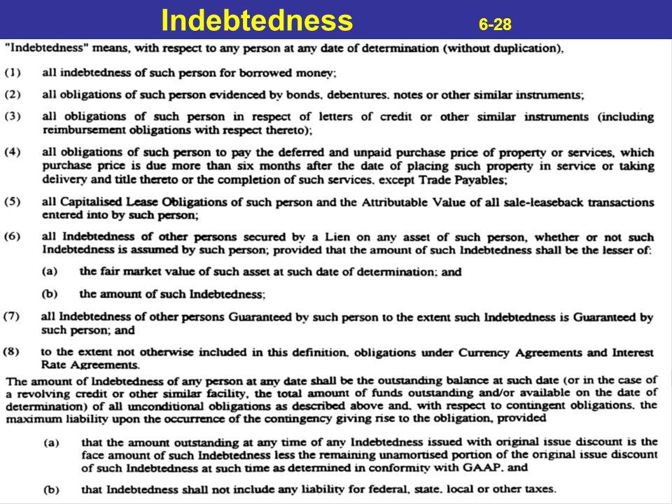 Indebtedness 6-28