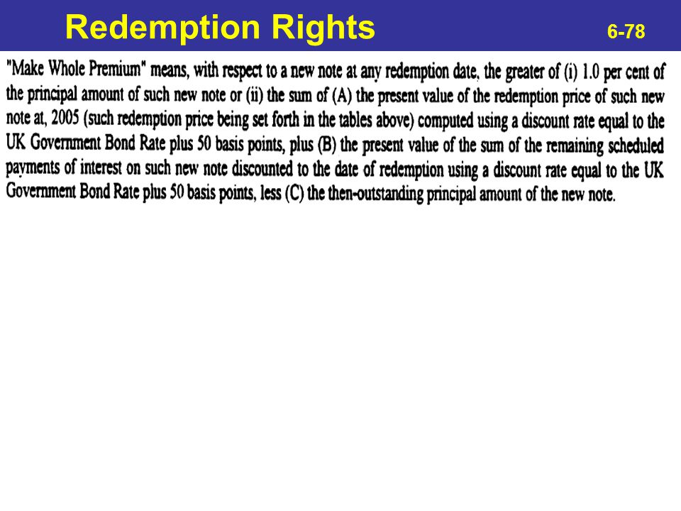 Redemption Rights 6-78