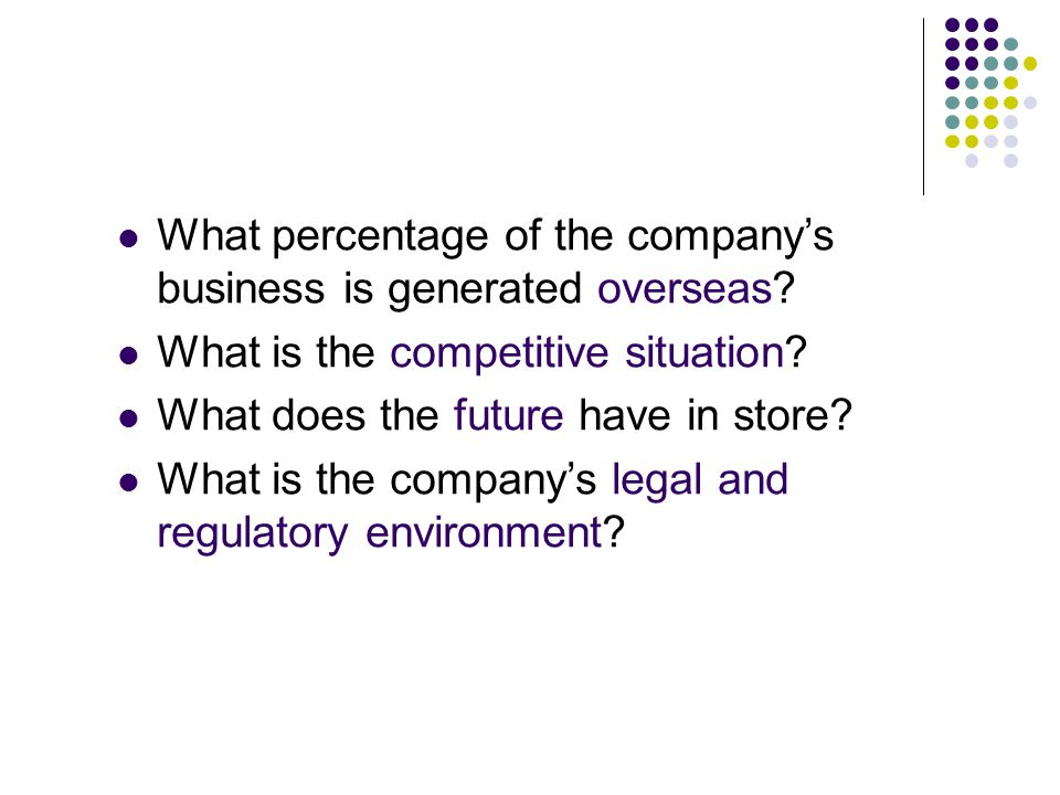 What percentage of the company's business is generated overseas.