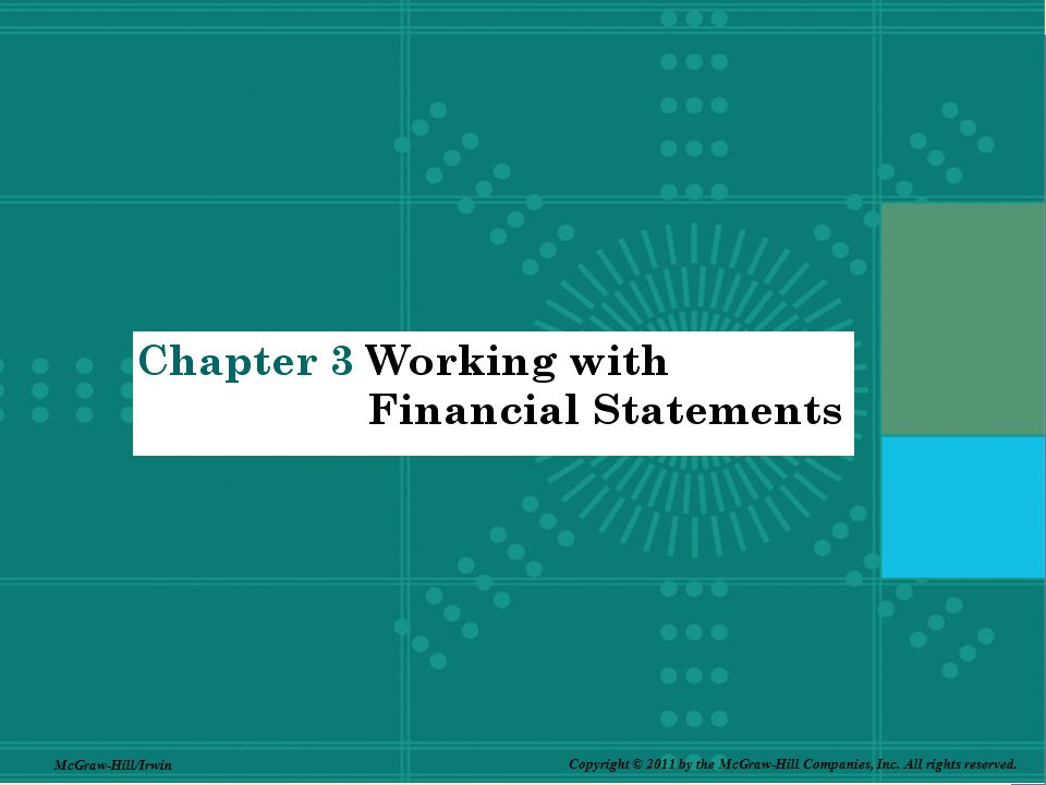 1-41 3-41 41 Why Evaluate Financial Statements.