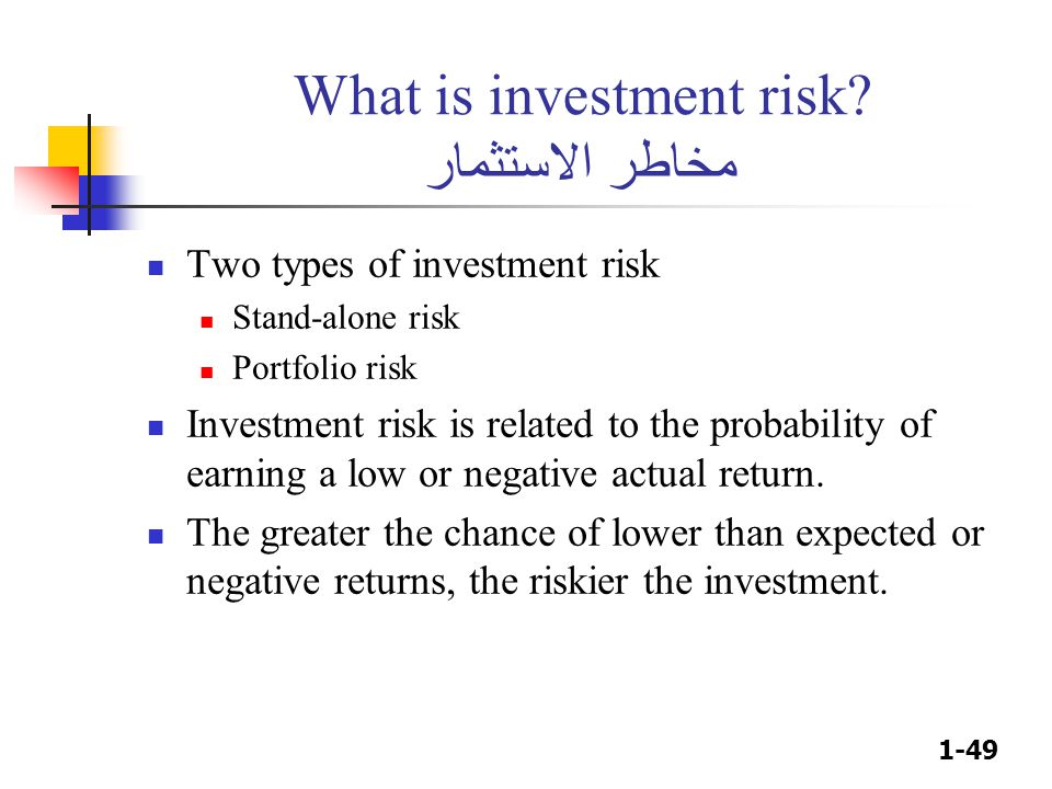 1-49 What is investment risk.