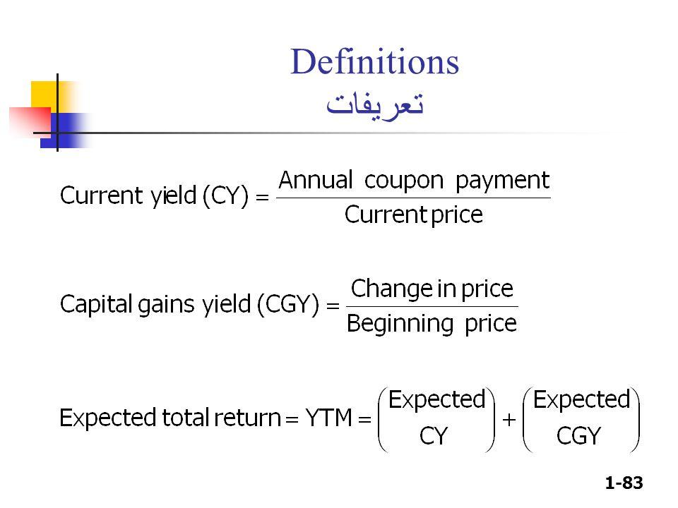 1-83 Definitions تعريفات