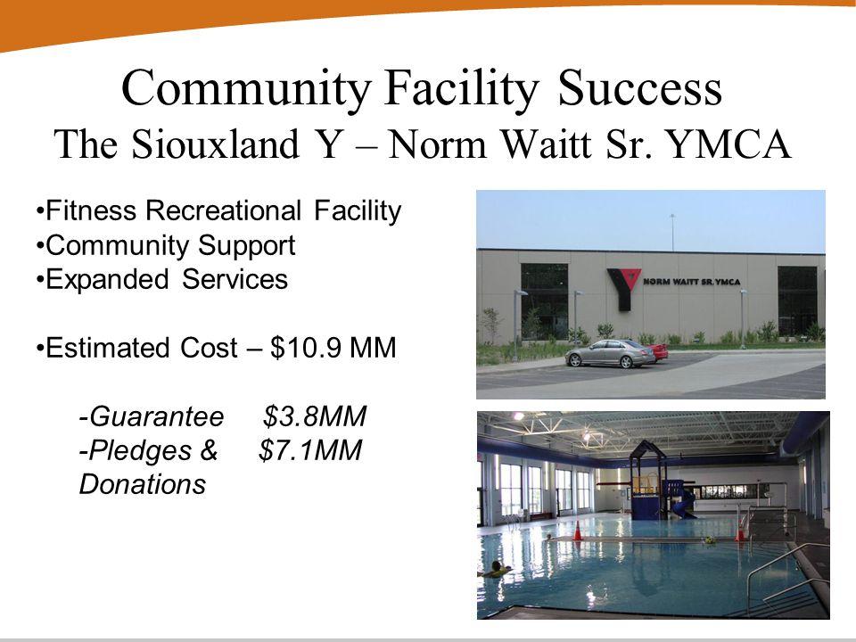 Community Facility Success The Siouxland Y – Norm Waitt Sr.