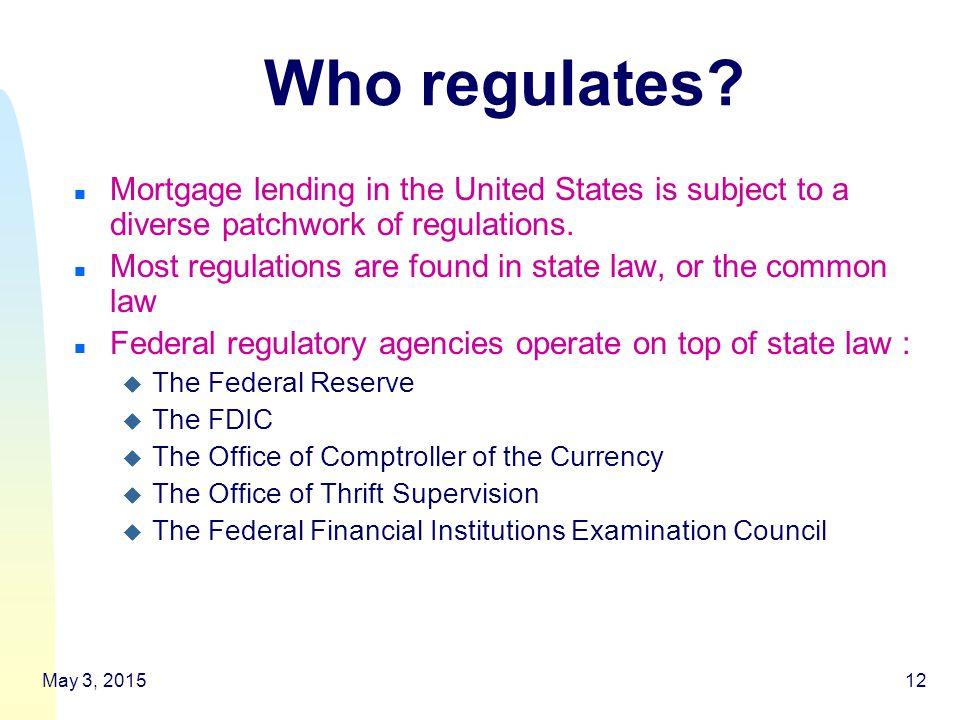 12 Who regulates.