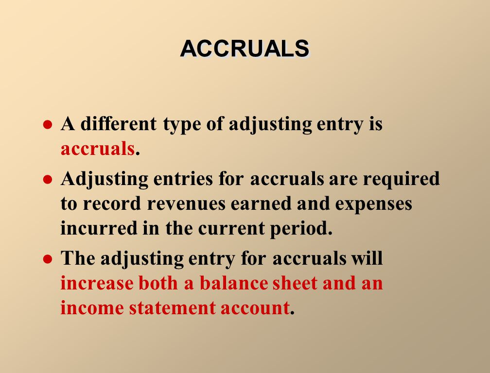 ILLUSTRATION 3-4 ADJUSTING ENTRIES FOR PREPAYMENTS Adjusting Entries Asset Unadjusted Balance Credit Adjusting Entry (-) Expense Debit Adjusting Entry (+) Prepaid Expenses Liability Unadjusted Balance Debit Adjusting Entry (-) Revenue Credit Adjusting Entry (+) Unearned Revenues