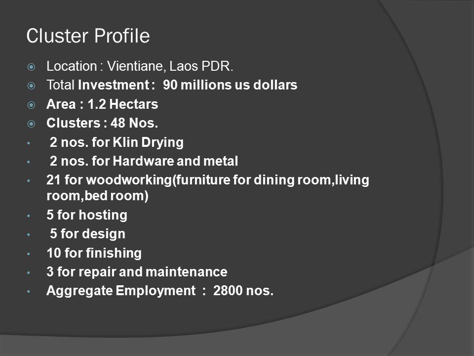 Cluster Profile  Location : Vientiane, Laos PDR.