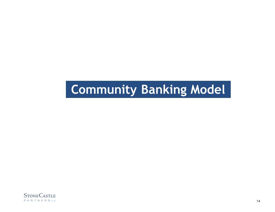 14 Community Banking Model