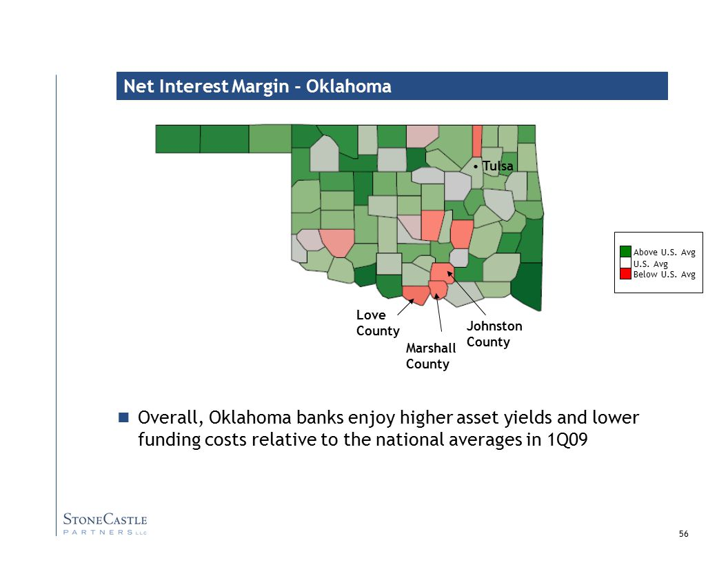 56 Net Interest Margin - Oklahoma U.S.Avg Above U.S.