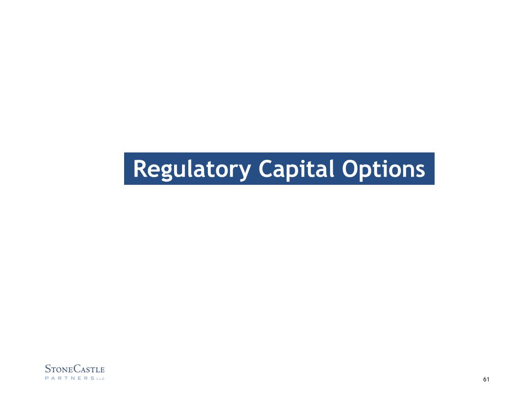 61 Regulatory Capital Options