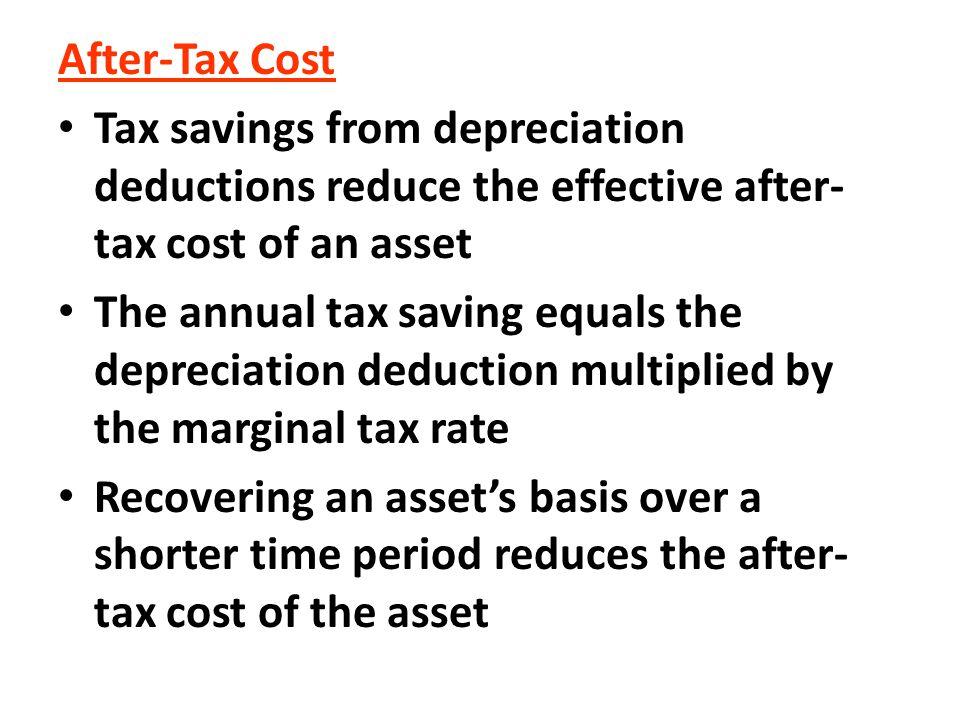 The bonus depreciation allowance of 50% of the cost of equipment, etc.