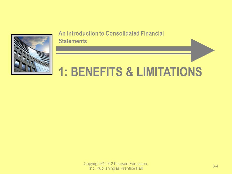 5: NONCONTROLLING INTERESTS An Introduction to Consolidated Financial Statements 3-25 Copyright ©2012 Pearson Education, Inc.