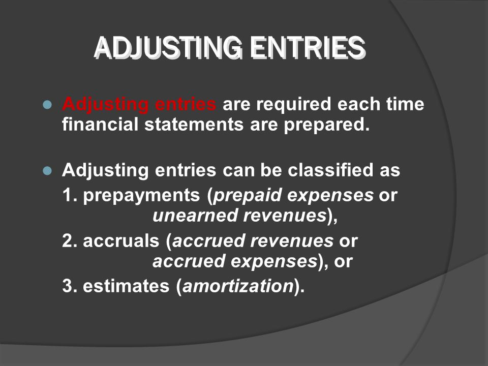 TRIAL BALANCE The Trial Balance is analysed to determine the need for adjusting entries.