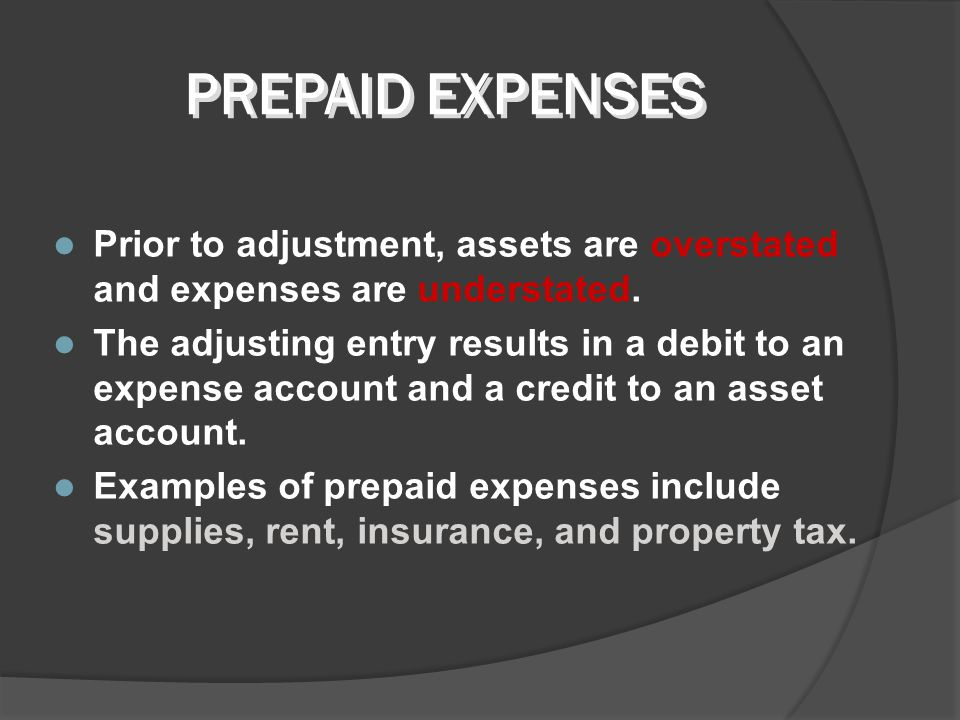 Prepaid expenses are expenses paid in cash and recorded as assets before they are used or consumed. Prepaid expenses expire with the passage of time o