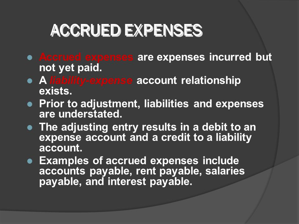 Accrued revenues may accumulate with the passing of time or through services performed but not billed or collected. An asset-revenue account relations