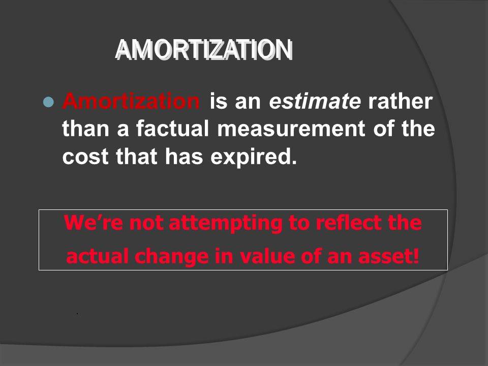 Amortization is the process of allocating the cost of certain capital assets to expense over their useful life in a rational and systematic manner. Am