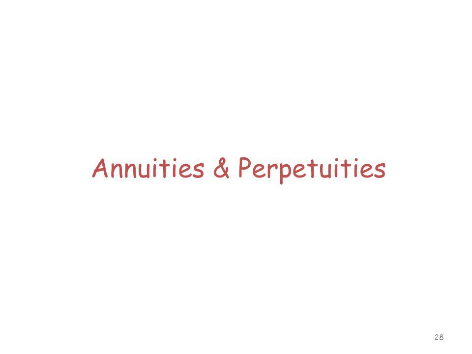 28 Annuities & Perpetuities